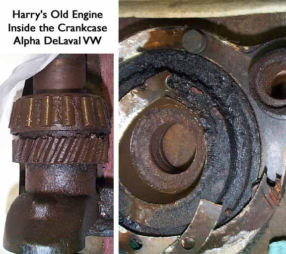 Removing Stuck Roller Bearings From Crankshaft.