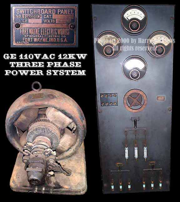 General Electric Generator and Slate Switch Panel