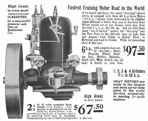Gray Motor Company Antique Marine Gas Engine