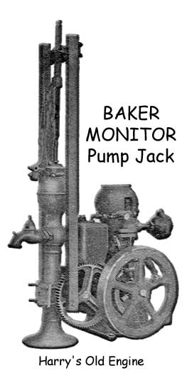 baker manufacturing monitor pump antique gas engine