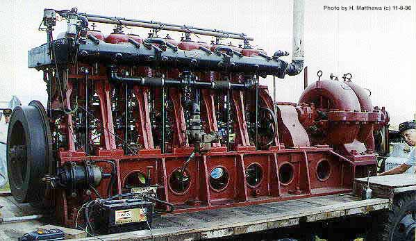 (old fire station 6 cyl pump engine)