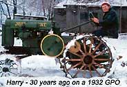 Click on this one to see the old John Deere in the winter with snow falling! A country farm was a great first home for a young couple, but hard to find in today's economy.