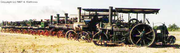 Pageant of Steam - Engines in a row!