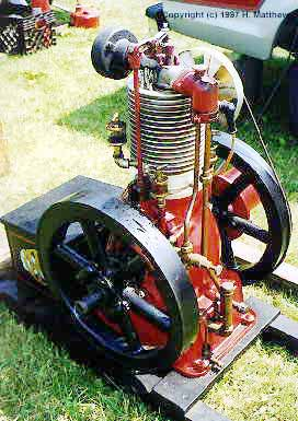 IHC Famous 2HP air cooled vertical gas engine