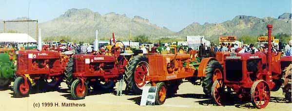 Tractors in the desert